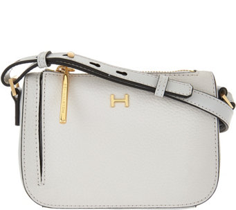 """As Is"" H by Halston Pebble & Smooth Leather Mini Crossbody Bag - A285592"