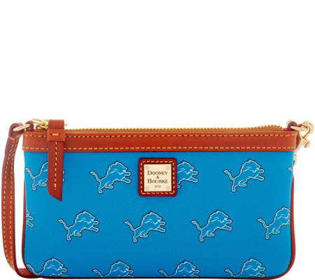 Dooney & Bourke NFL Lions Large Slim Wristlet
