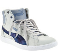 PUMA Leather Hightop Sneakers - Vikky Mid Scratch