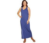 Peace Love World Drape Back Slub Knit Maxi Dress - A290292
