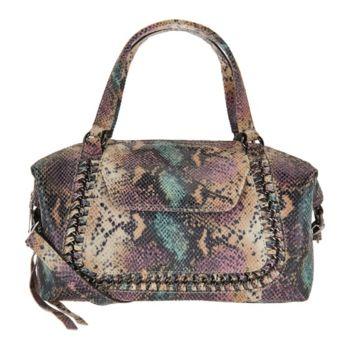 Aimee Kestenberg Pebble Leather Convertible Satchel- Balboa