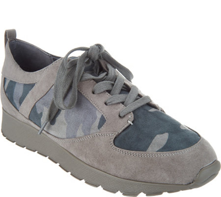 G.I.L.I. Lace-up Camo Sneakers - Janna
