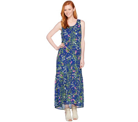 """As Is"" C. Wonder Petite Botanical Floral Print Maxi Dress"