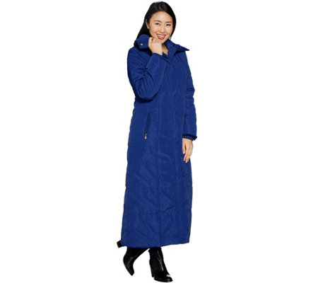 Dennis Basso Full Length Puffer Coat Petite