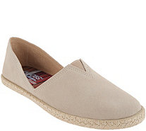 Skechers BOBS Suede Espadrille Slip On Shoes - Day 2 Nite - A309492