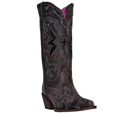 Laredo Leather Cowboy Boots - Lucretia
