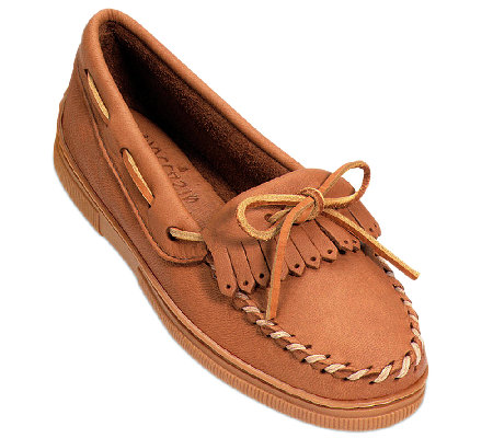 Minnetonka Leather Moccasins - MoosehideKilty