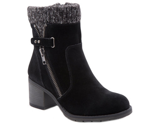 BareTraps Cold Weather Leather Ankle Boots-Danette