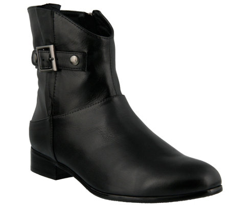 Spring Step Leather Booties - Dail