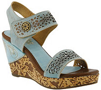 Spring Step L'Artiste Leather Wedge Sandals - Allura - A357592