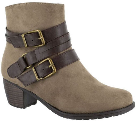 Easy Street Side Zip Ankle Boots - Coby