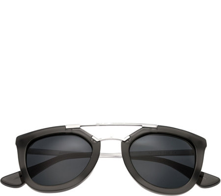 Bertha Ella Gray Sunglasses w/ Polarized Lenses