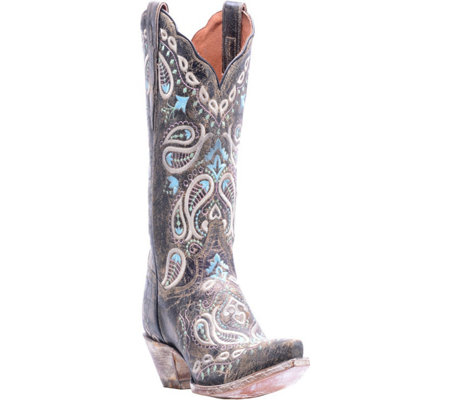 Dan Post Leather Cowboy Boots - Julissa