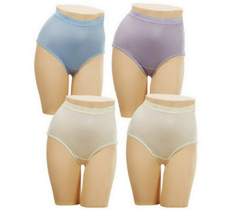 Breezies S/4 Nylon Lycra Women's Brief Panties w/UltimAir - A45692