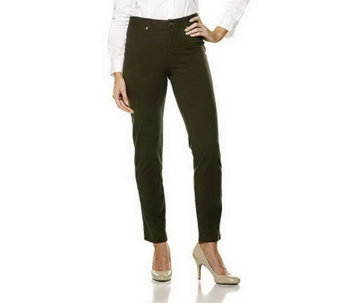 Women with Control Regular Knit Fly Front Jeggings - A210793