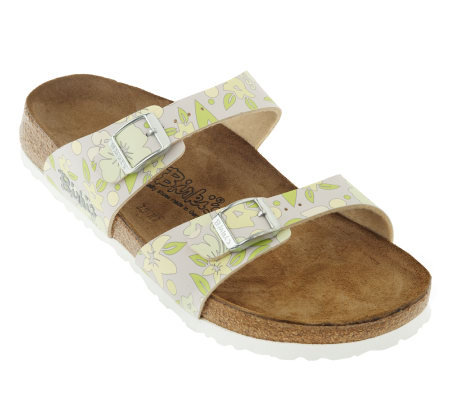 Birki's Multi-Flowers Double Strap Sandals w/ Soft Footbed