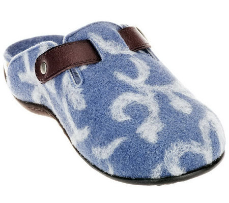 Vionic w/ Orthaheel Orthotic Slip-on Mule w/ Pattern -Flores