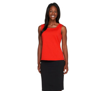 Joan Rivers Wardrobe Builders Square Neckline Tank - A231693