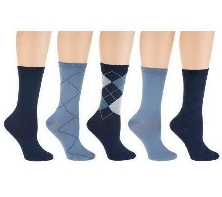 Passione Capri Set of 5 Nylon Crew Socks