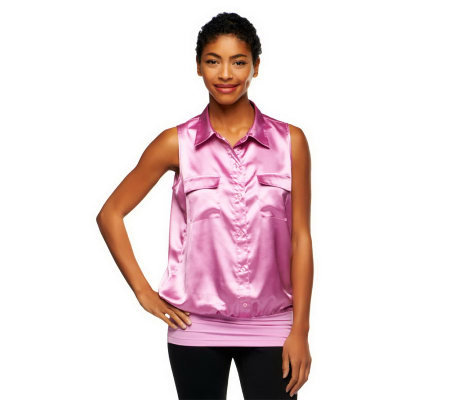 Kathleen Kirkwood Blouson Cami with Pocket Detail