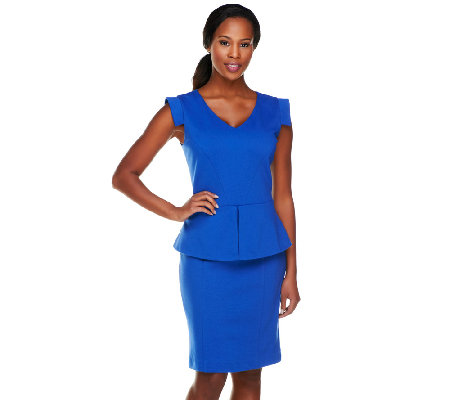 Status by Star Jones Knit Peplum Dress