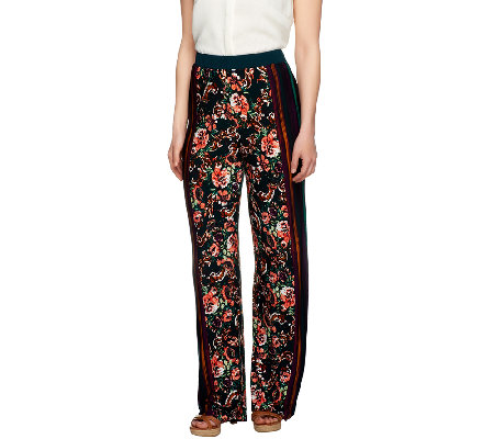 George Simonton Petite Printed Milky Knit Wide Leg Pants