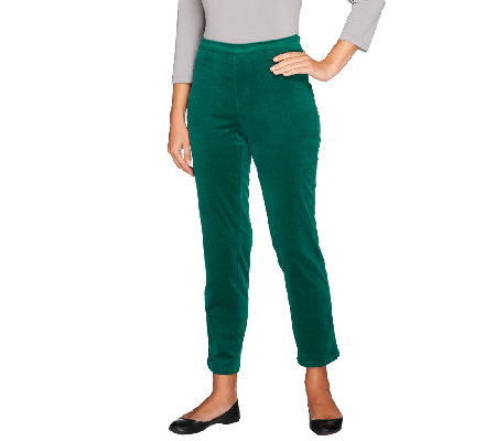 Isaac Mizrahi Live! Regular Stretch Corduroy Pull-On Pants