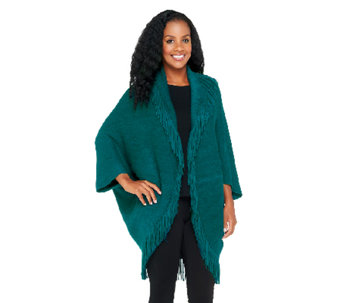 Layers by Lizden Marvelush Shrug with Cable Detail - A256593
