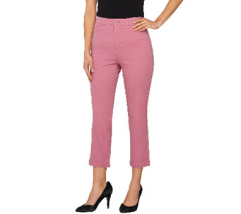 Liz Claiborne New York Hepburn Cropped Stretch Woven Pants - A261293