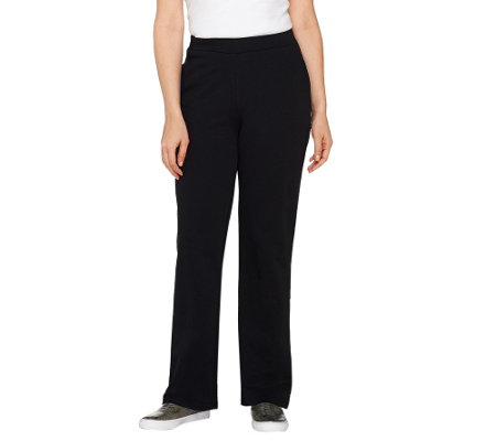 Quacker Factory Pull-on French Terry Side Pocket Pants