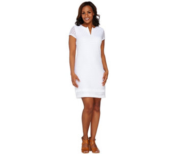 Isaac Mizrahi Live! Short Sleeve Stretch Lace Dress - A262493