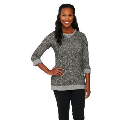 Denim & Co. Active French Terry Sweatshirt Tunic