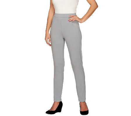 George Simonton Petite Opulent Jersey Pull-On Pants