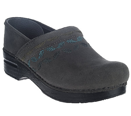 Dansko Professional Embroidered Stain Resistant Clogs
