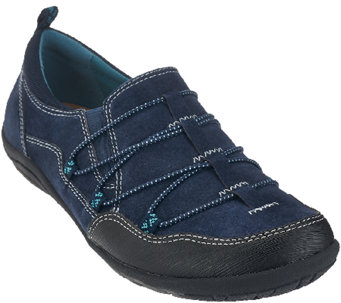 Earth Origins Suede Bungee Lace-up Sneakers - April - A269993