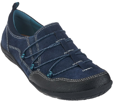 Earth Origins Suede Bungee Lace-up Sneakers - April
