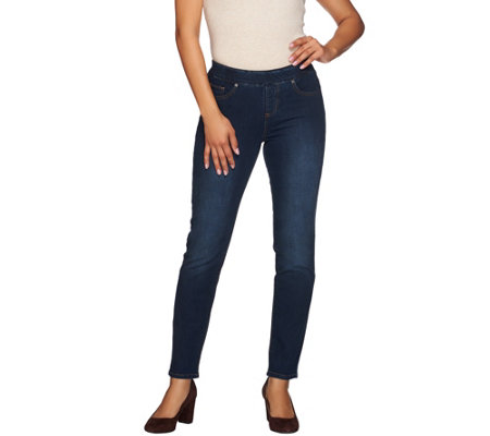 Women with Control Regular Pull-on Slim Leg Ankle Jeans