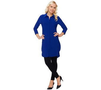 Women with Control Petite Tunic and Pintuck Leggings Set - A272693
