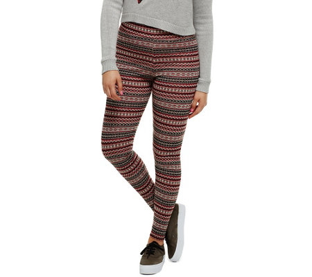 Bethany Mota Pull-On Fair Isle Jacquard Knit Leggings