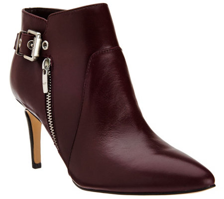 """As Is"" Marc Fisher Leather Pointed-Toe Ankle Boots - Trinity"