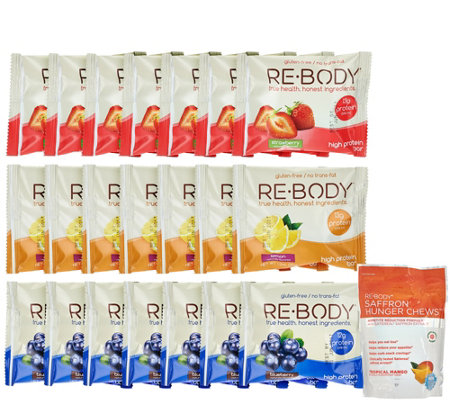Re-Body Fruit Variety Protein Bars & Hunger Chews Combo