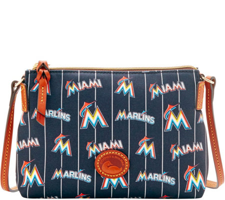 Dooney & Bourke MLB Nylon Marlins Crossbody Pouchette