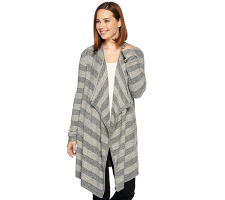 Barefoot Dreams Chic Lite Drape Front Striped Calypso Wrap