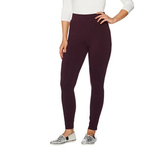 LOGO by Lori Goldstein Pants with Color-Block Panels at Hem - A282793