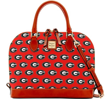 Dooney & Bourke NCAA University of Georgia Zip Zip Satchel