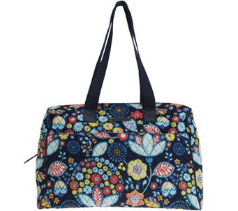 """As Is"" Vera Bradley Signature Print Overnight Bag - A285593"