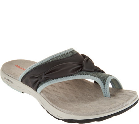 Merrell Leather Sport Thong Sandals - Vesper Thong