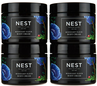 NEST Fragrances Set of 4 Midnight Fleur Body Creams - A289993