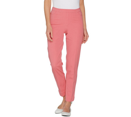 Isaac Mizrahi Live! Regular 24/7 Stretch Ankle Pants with Pockets