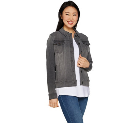 Martha Stewart Knit Denim Jean Jacket